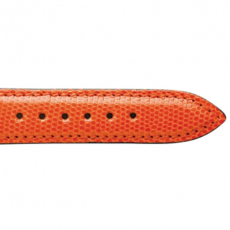 Bracelet Montre Lézard Sellier Orange Salome - 18103-22
