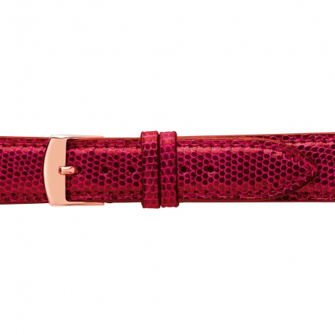 Bracelet Montre Lézard Sellier Rouge