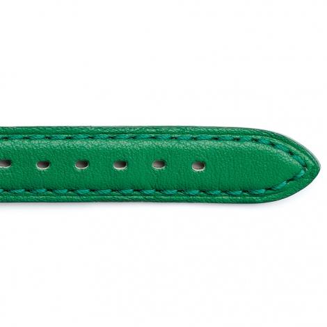 Bracelet Montre Vachette Vert Clair Femme - Corail - 24201-11