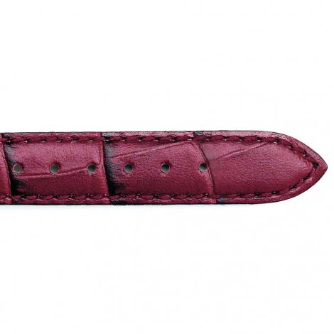 Bracelet Montre veau façon croco Bordeaux Cordélie - 25625-08
