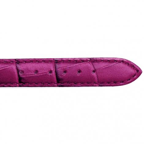 Bracelet Montre veau façon croco Fuchsia Eliza - 25625-23