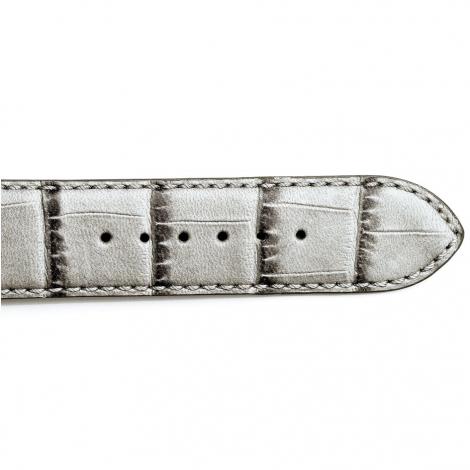 Bracelet Montre veau façon croco Gris Yuang - 15625-09