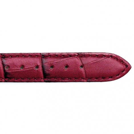 Bracelet Montre veau façon croco Rouge Naïs - 25625-07