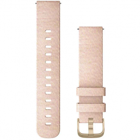 Bracelet nylon tressé Rose Pâle - 20mm - Garmin - 010-12924-12