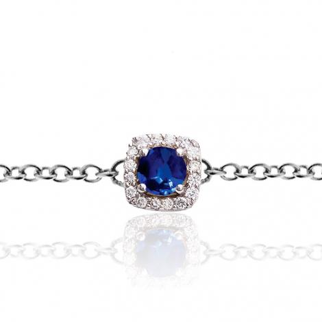 Bracelet One More saphir bleu et diamants  0.11 ct - Salina -047571SA