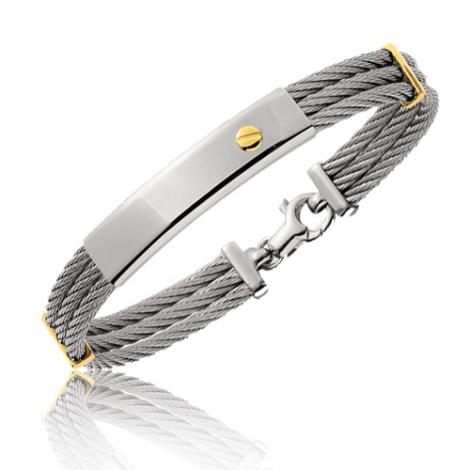 Bracelet Or et Acier 18 cm Élisabelle - 6259PM