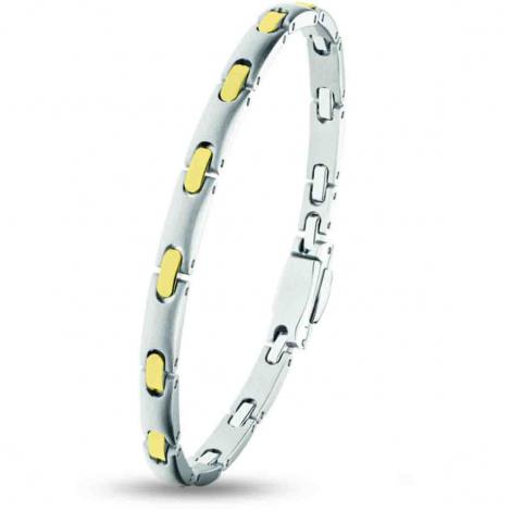 Bracelet pequignet Or et Acier 1 rang  - 0575038