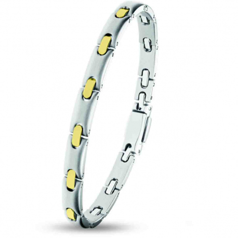 Bracelet pequignet Or et Acier 1 rang  6 mm - 0576038