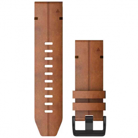 Bracelet QuickFit® Cuir Marron - 26mm - Garmin - 010-12864-05