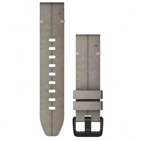 Bracelet QuickFit® daim gris argile - 20mm - Garmin - 010-12876-00