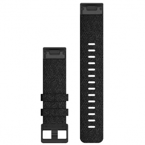 Bracelet QuickFit® Nylon Black - 22mm - Garmin