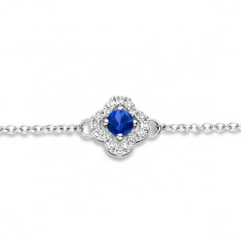 Bracelet Saphir Bleu et Diamants- One More  0.08 ct - Salina -062369SA