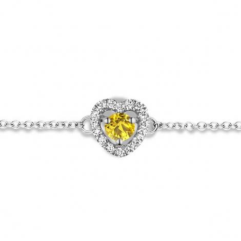 Bracelet Saphir Jaune et Diamants- One More  0.07 ct - Salina -063070JA