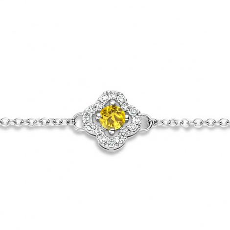 Bracelet Saphir Jaune et Diamants- One More  0.08 ct - Salina -062369JA