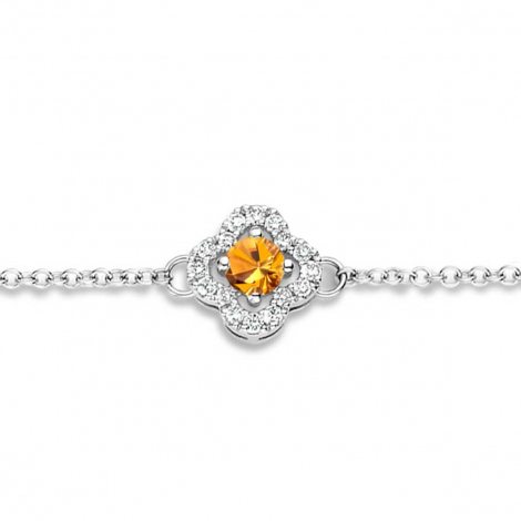 Bracelet Saphir Orange et Diamants- One More  0.08 ct - Salina -062369KA