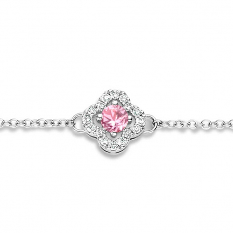 Bracelet Saphir Rose et Diamants- One More  0.08 ct - Salina -062369XA