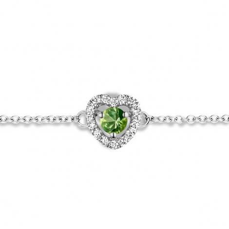 Bracelet Saphir Vert et Diamants- One More  0.07 ct - Salina -063070EA