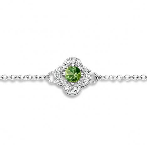 Bracelet Saphir Vert et Diamants- One More  0.08 ct - Salina -062369EA