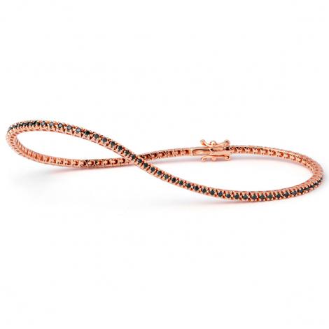 Bracelet Tennis 0.55 ct Diamant Noir  en Or Rose - Zoélie - B9103TSGPN100