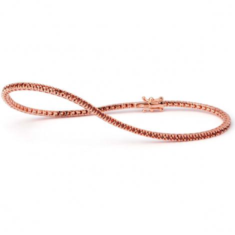 Bracelet Tennis 0.55 ct Diamant Rouge  en Or Rose - Kalaya - B9103TSPWZA00