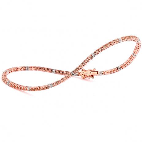 Bracelet Tennis 1.05 ct Diamant Brun  en Or Rose - Naïla - B9105TSGPN7K1
