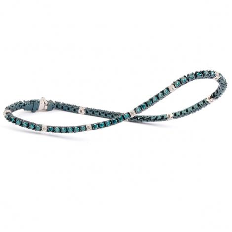 Bracelet Tennis 1 ct Diamant Bleu  en Or Bleu - Alessandra - B9105TSPWU5K0