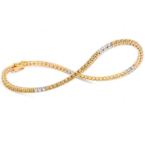 Bracelet Tennis 1 ct Diamant Jaune  en Or Jaune - Kathy - B9105TSGYA8K0
