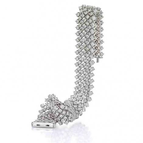 Bracelet Tennis 6.50 ct Diamant Blanc G-SI en Or Blanc - Ilaria - B9303