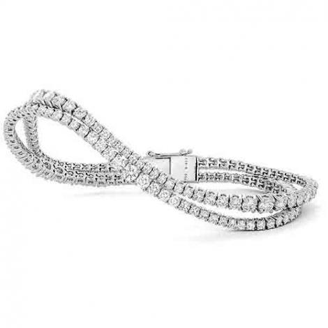 Bracelet Tennis 7.65 ct Diamant Blanc F-VS en Or Blanc - Alexane - B3469