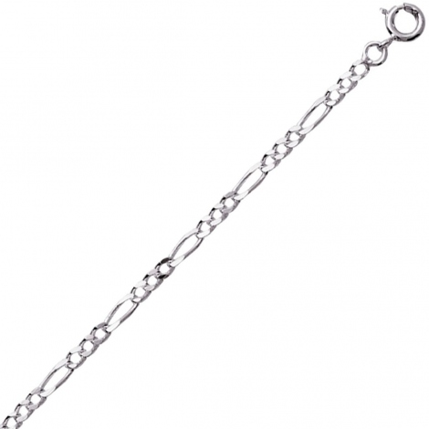 Chaine Argent maille Alternée 1.3g - 2 mm - Romane - 301652C