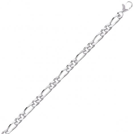 Chaine Argent maille Alternée 16.7g - 4 mm - Laurianne - 301272C