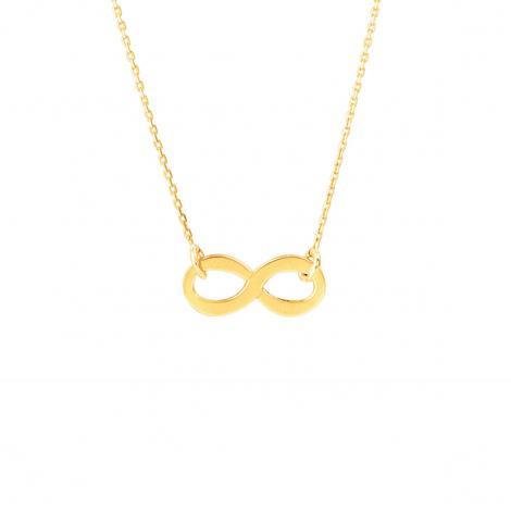 Chaine en or 9 carats Fantaisie motif infini 1.25g Élara - 9K7758