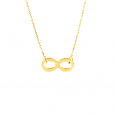 Chaine en or 9 carats Fantaisie motif infini 1.2g Élara - 9K7758