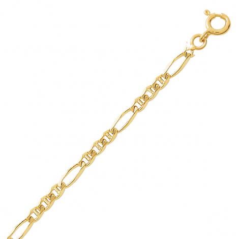 Chaîne en or 9 carats maille marine alternée 3mm Giulia - 9K532.3