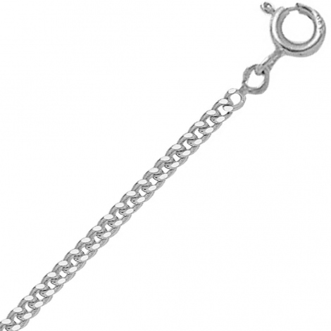 Chaine en or blanc 9 carats maille Gourmette 3.6g Lurilla