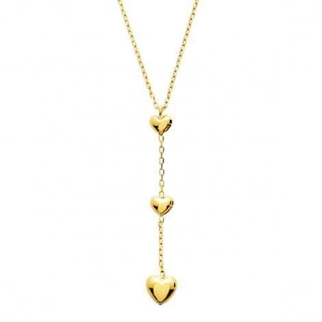 Chaine en or Fantaisie motif coeur 1.25g Clémence - 7669