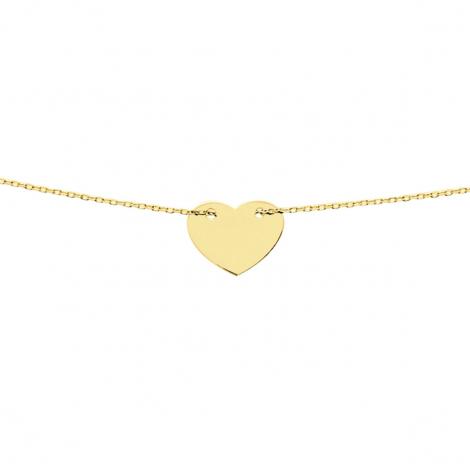 Chaine en or Fantaisie motif coeur 1.2g Adrielle - 620070