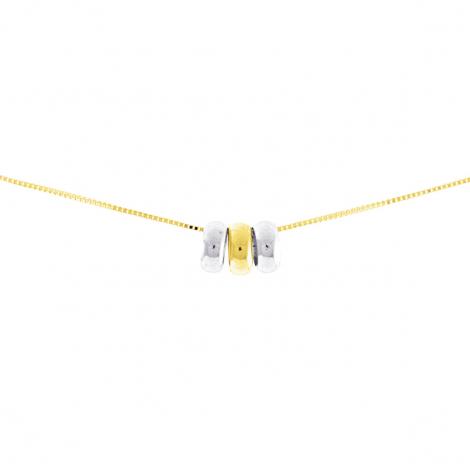 Chaine en or jaune 9 carats et rhodium Fantaisie 1.35g Flore - 9K7715G