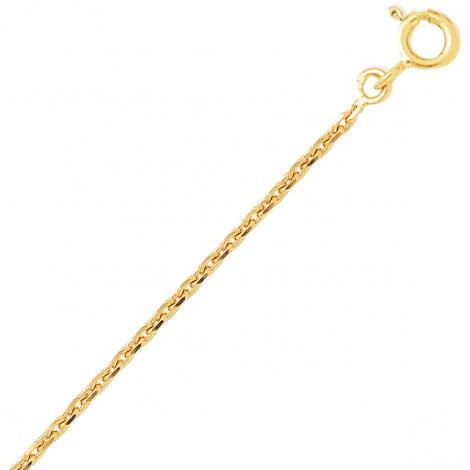 Chaîne en or jaune 9 carats maille forçat  2.35g Mélodie