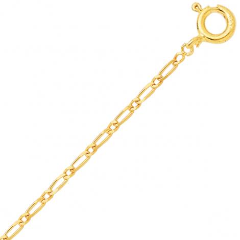 Chaine en or jaune maille Alternée 1.4mm - 0.7g Marina