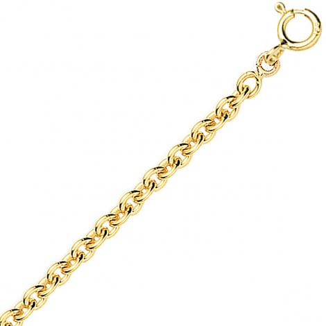 Chaîne en or jaune maille forçat ronde 3.85g Tiffany