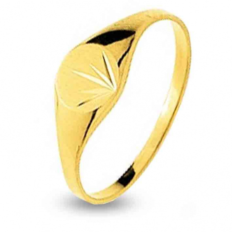 Chevalière Or Jaune Or 18 ct - 750/1000  1.35 g Axelle