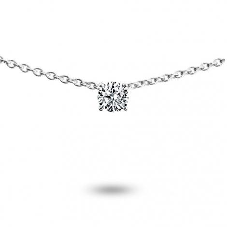Collier diamant 0.10 ct Or Blanc 3.05g Ivanna