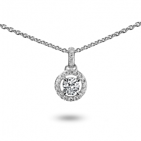 Collier diamant 0.10 ct Or Blanc 3g Oxana