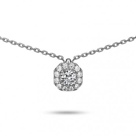 Collier diamant 0.15 ct Or Blanc 2g Caprice
