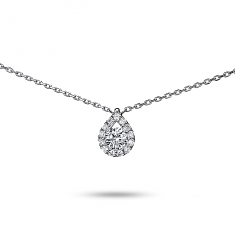 Collier diamant 0.15 ct Or Blanc 2g Rhéa