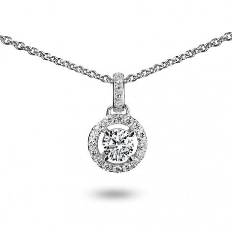 Collier diamant 0.15 ct Or Blanc 3g Koralie