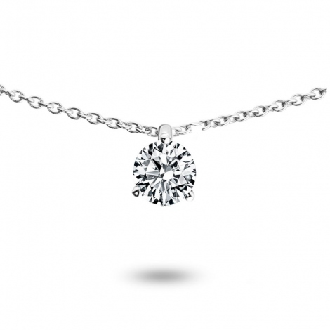 Collier diamant 0.20 ct Or Blanc 1.3g Mylie