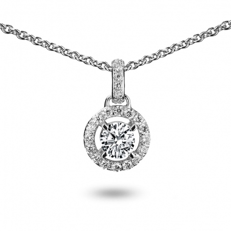 Collier diamant 0.20 ct Or Blanc 4g Angela