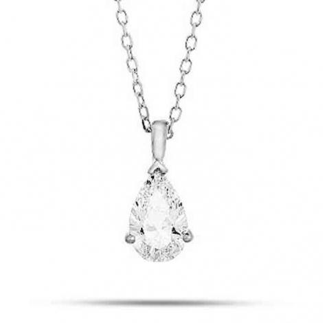 Collier diamant 0.20 ct Or Blanc g